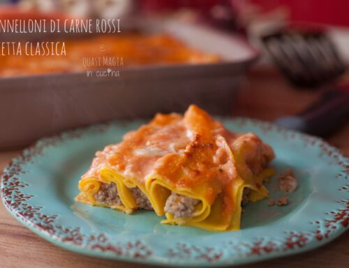 Cannelloni di carne rossi ricetta classica