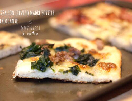 Pizza con lievito madre sottile e croccante