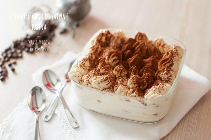 Ricetta Tiramisu Con Panna E Mascarpone Giallo Zafferano.Tiramisu Con Oro Saiwa E Panna E Quasi Magia In Cucina