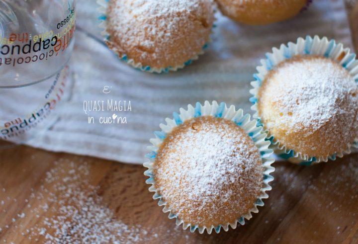 Muffin alla panna senza burro e senza olio