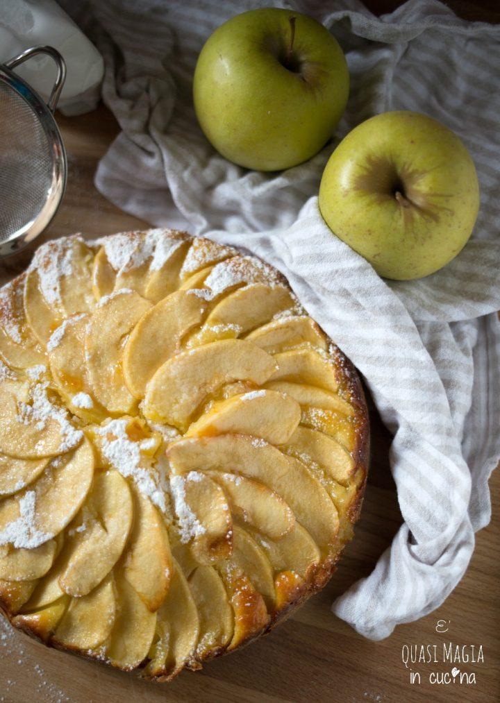 Torta di mele e ricotta senza burro SEMPLICE