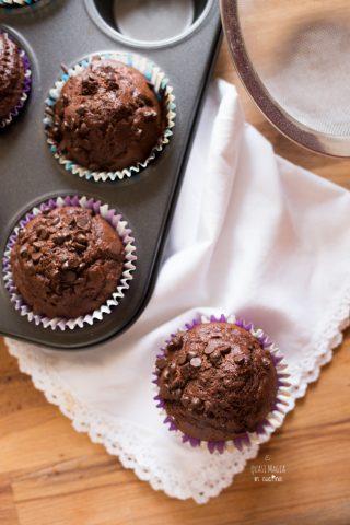 muffin al cioccolato con gocce