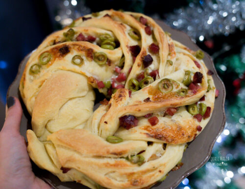 Angelica salata con speck e olive, lievitazione veloce