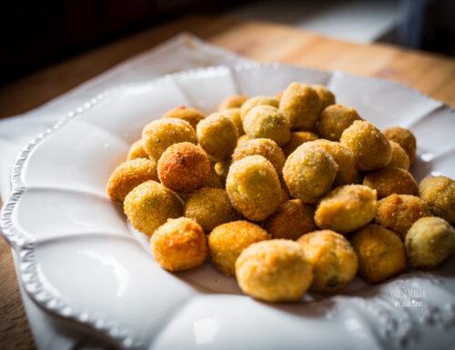 Olive ascolane fritte, olive ripiene di carne