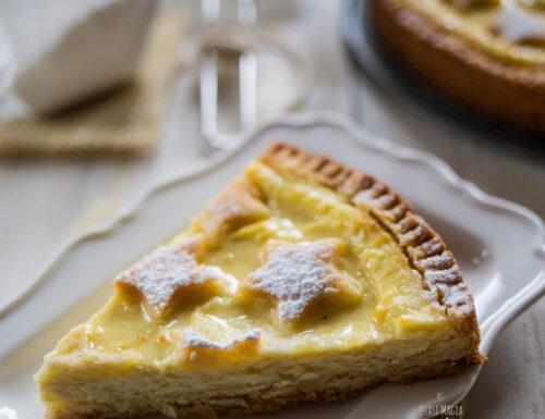 Crostata morbida ricotta e limone senza burro