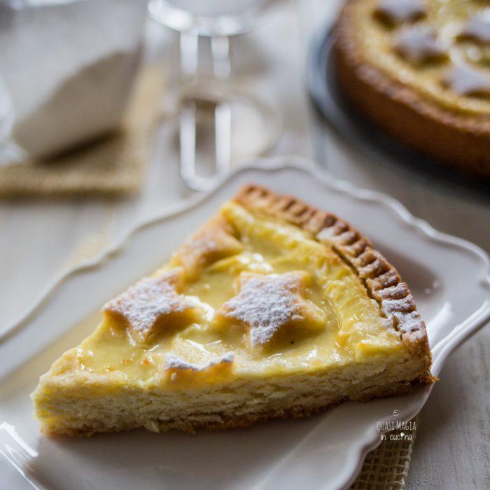 crostata morbida ricotta e limone