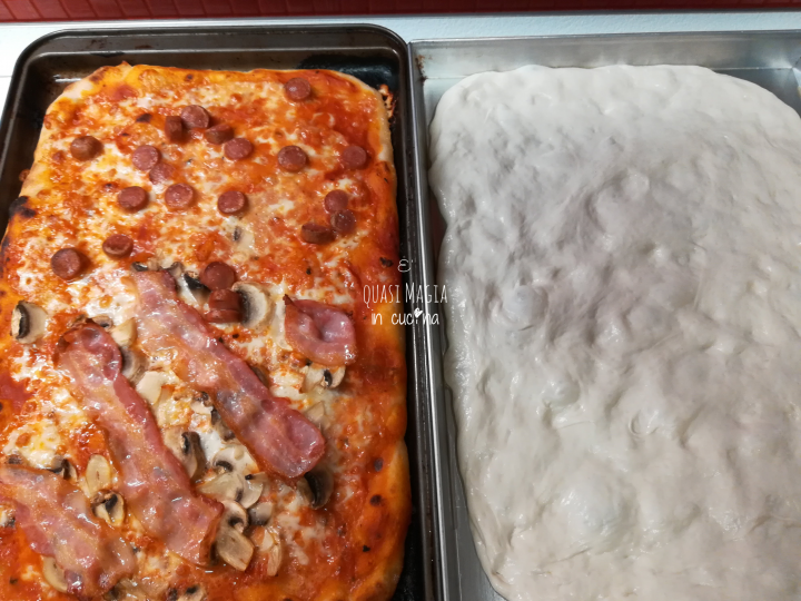 Pizza manola con lievito madre