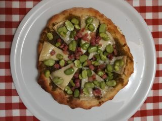 pizza pecorino fava
