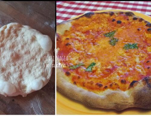 Pizza con un grammo di lievito, lievitazione lenta in frigo