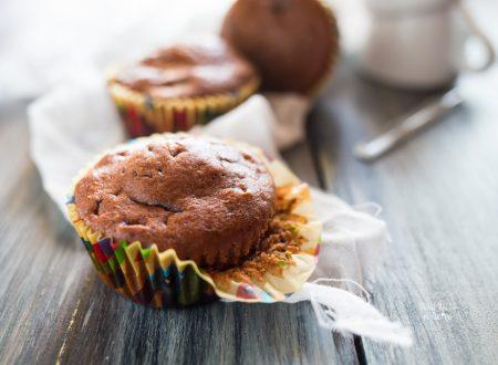 Muffin senza uova al cacao e cioccolato