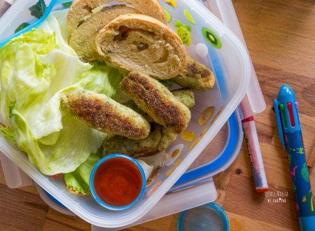 Bastoncini di pollo con verdure