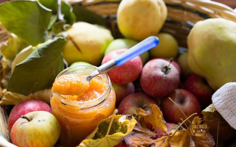 Confettura di mele cotogne e zucca
