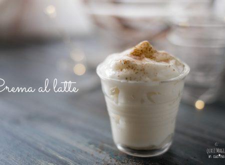 Crema al latte senza uova e panna, ricetta semplice senza glutine