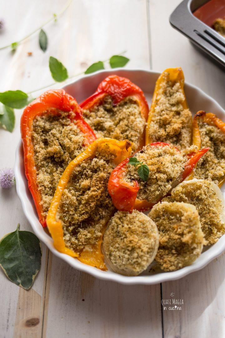 peperoni al forno con pangrattato