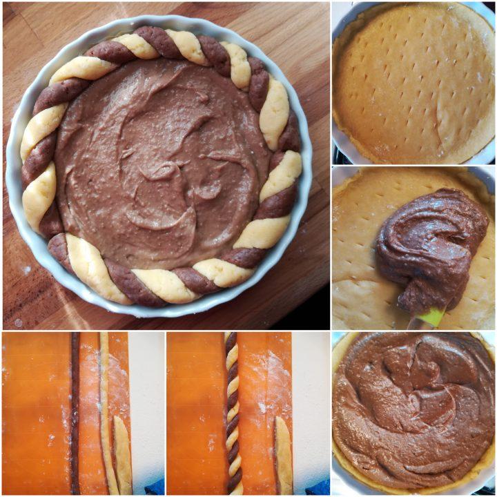 Crostata crema di castagne procedimento