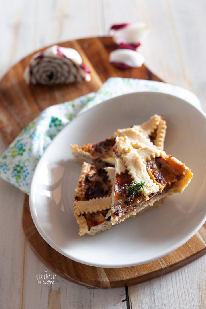 torta salata radicchio speck e stracchino