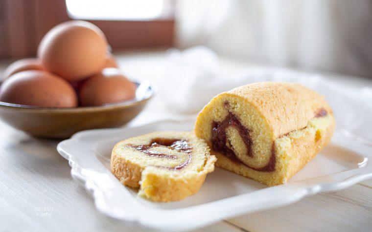 Pasta Biscotto per Rotolo dolce