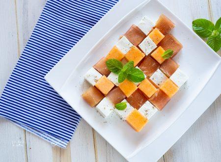 Prosciutto melone e formaggio primo sale, idea antipasto