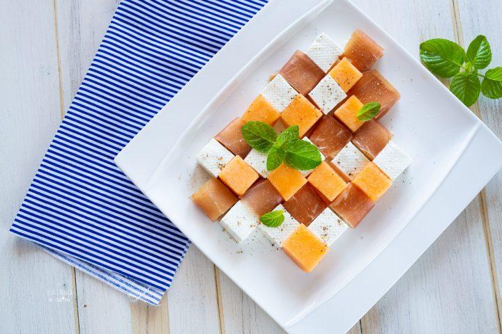 Prosciutto melone e formaggio
