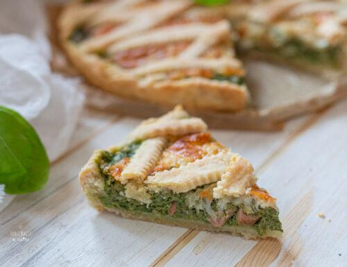 Crostata salata agli spinaci (anche Bimby)