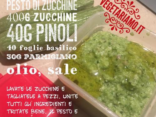 Pesto crudista di zucchine