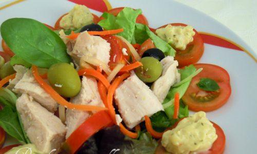Petto di pollo in insalata
