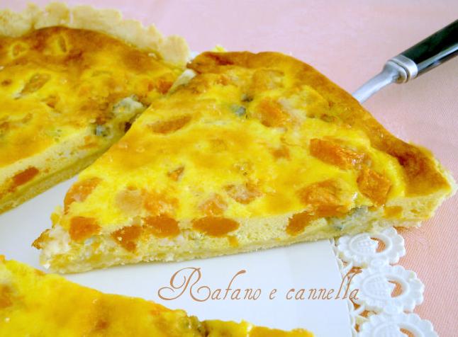 Torta salata di zucca e gorgonzola
