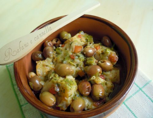 Baccalà con cipolle e olive
