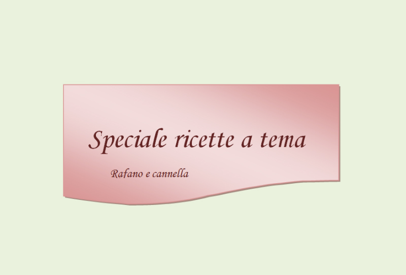 Sppeciale ricette a tema