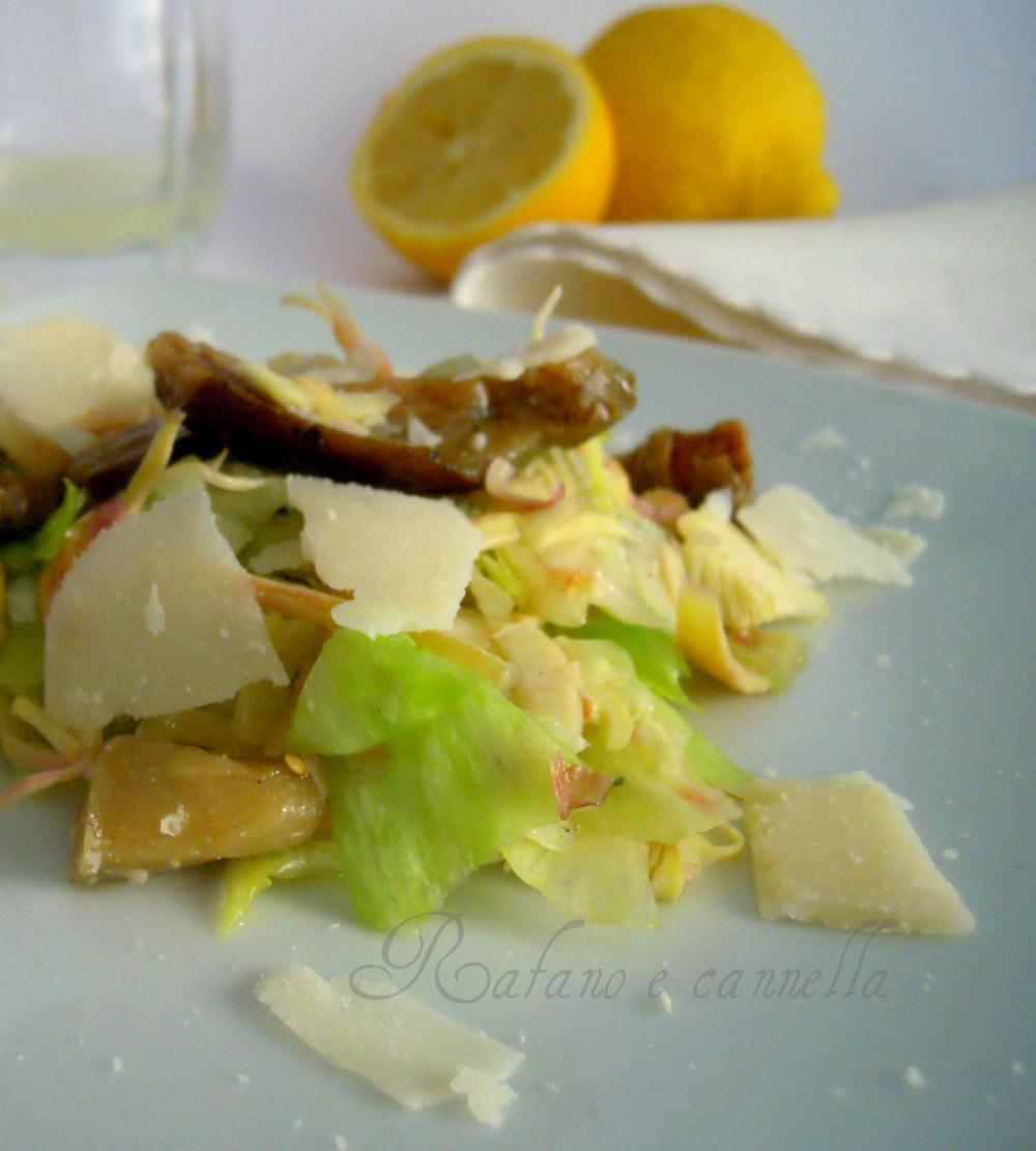 Insalata di carciofi e parmigiano