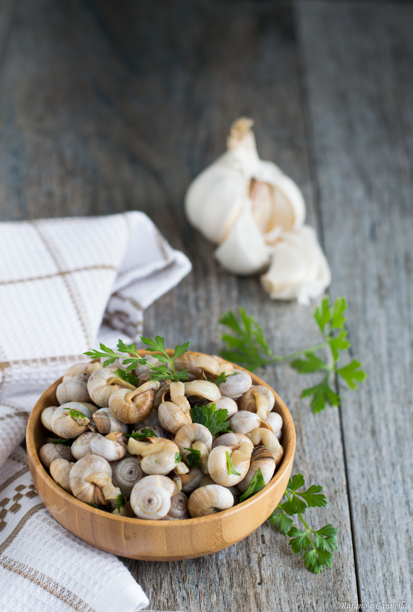 lumache aglio e prezzemolo