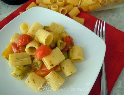 Pasta con patate e peperoni