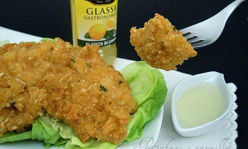 Bocconcini di pollo ai pinoli e glassa al limone