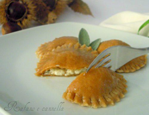 Ravioli alle castagne e gorgonzola