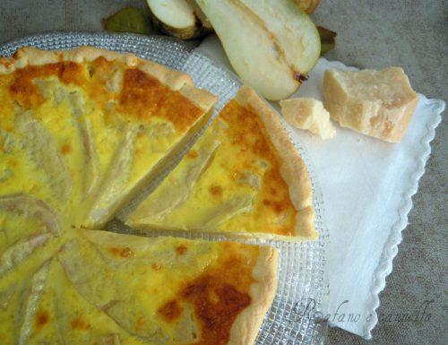 Quiche con formaggio e pere