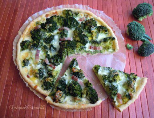 Torta salata con broccoletti e stracciatella pugliese