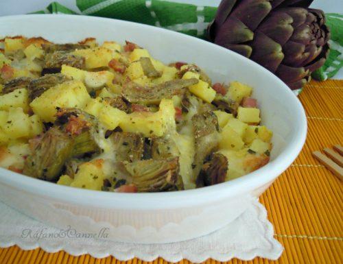 Pasticcio di carciofi e patate