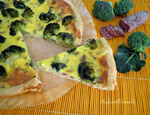 """Torta salata con broccoli e """"pezzente"""""""