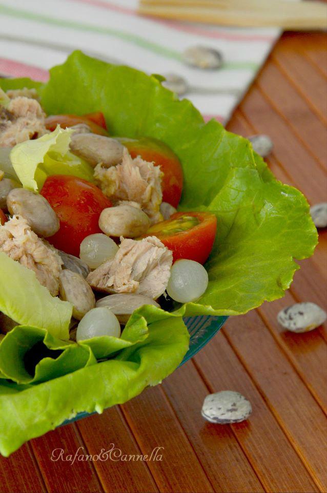 insalata di borlotti e tonno