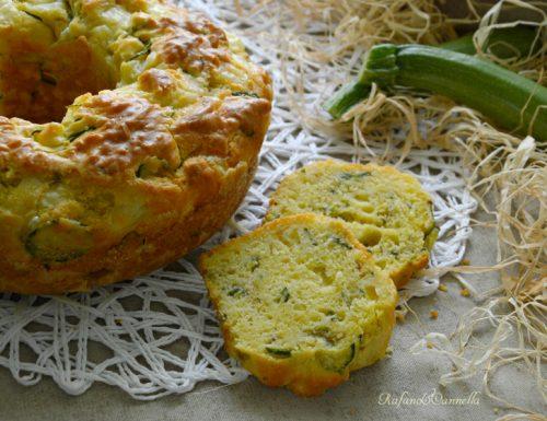 Ciambella salata alle zucchine e porro