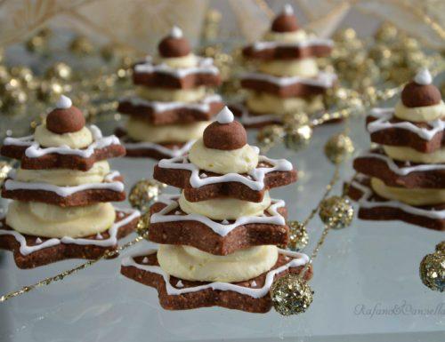 Alberelli al cioccolato con crema al mascarpone