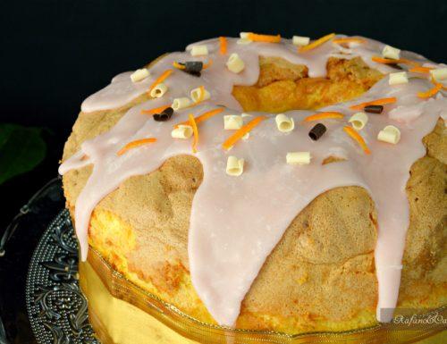 Chiffon cake all'arancia glassato