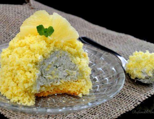 Mimose al pistacchio e ananas