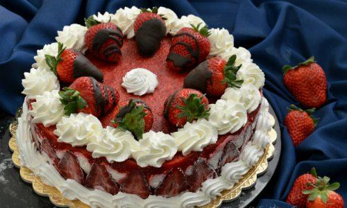 Torta fredda ricotta e fragole