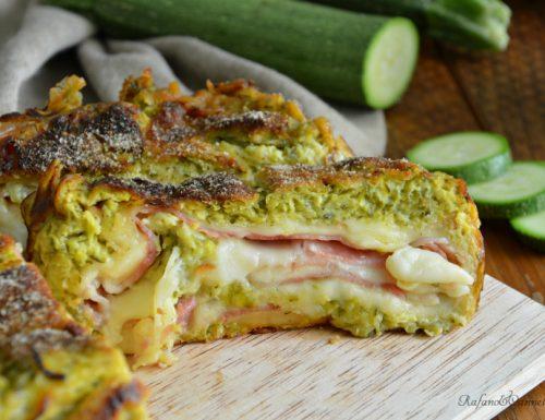 Rotolo di zucchine, prosciutto e formaggio – video ricetta