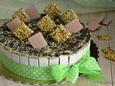 torta wafers e cioccolato