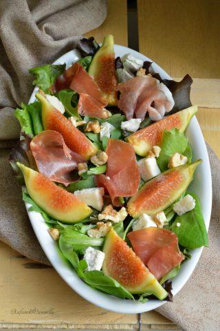 insalata con fichi prosciutto gorgonzola e noci