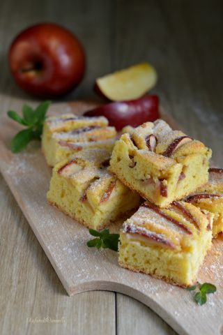 torta di mele bassa e soffice