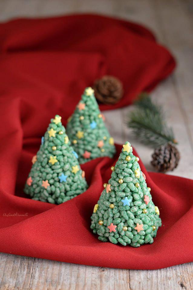 Alberelli Di Natale.Alberelli Di Cioccolato E Riso Soffiato Rafano E Cannella