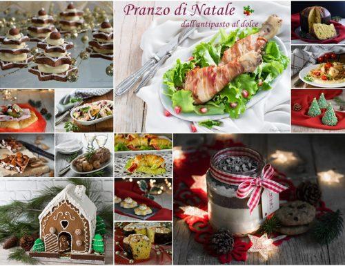 Pranzo di Natale dall'antipasto al dolce